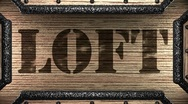 Loft on wooden stamp Stock Footage