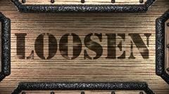 Loosen on wooden stamp Stock Footage
