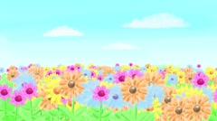 Toon Flowers Stock Footage