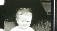 Stock Video Footage of OUCH! Happy Baby with Bandage Bump Head 1940s 1930s Vintage Film Home Movie 746