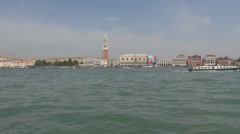 View to San Marco Square and Palazzo Ducale Stock Footage