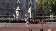 Stock Video Footage of Guards at Buckingham Palace