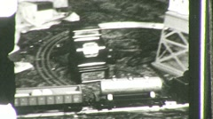 Toy Train GREAT DEPRESSION Era 1945 Vintage Film Home Movie 748 Stock Footage