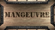 Manoeuvre on wooden stamp Stock Footage