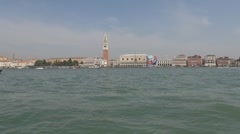 View to San Marco Square and Palazzo Ducale - stock footage