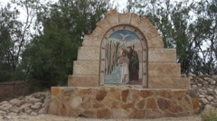 Mosaic of baptized Jesus - stock footage