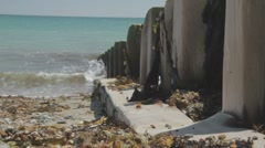 Beach Wall Close Up Macro HD 1080p UK Stock Footage