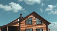 Cottage. - stock footage