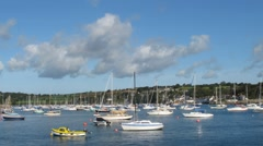 Falmouth yachts on the Fal time lapse Stock Footage