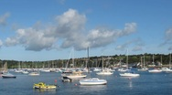 Stock Video Footage of Falmouth yachts on the Fal time lapse
