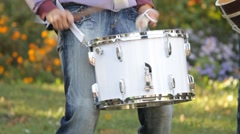 Musician playing the drum Stock Footage