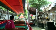 Channel Tour Bangkok Stock Footage