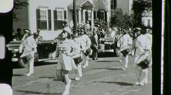Women Majorettes Twirl Batons Girls Parade 1940s Vintage Film Home Movie 762 Stock Footage