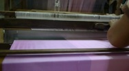 Silk Workshop Loom CU Stock Footage