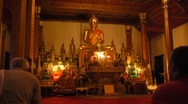 Praying to Buddha Stock Footage
