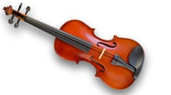 Musical instrument : violin Stock Footage