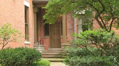 President Rutherford B. Hayes Mansion's Back Entrance Stock Footage
