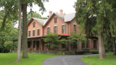 President Rutherford B. Hayes Mansion Stock Footage