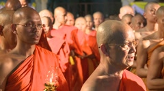 Buddist Priests - stock footage