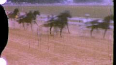Racehorse Horse Kentucky Derby Jockey 1950s Vintage Film Home Movie  778 Stock Footage