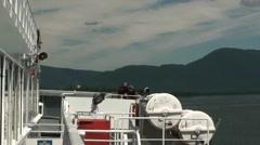 Alaska State Ferry, Petersburg to Wrangell Stock Footage