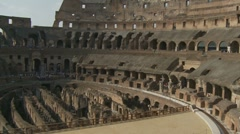 Inside the Colosseum zoom out - stock footage
