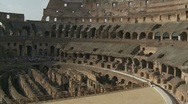 Stock Video Footage of Inside the Colosseum zoom out