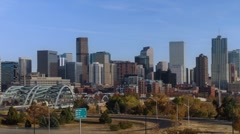 Stock Video Footage of Sunny Denver Time Lapse