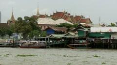 Chao Praya River Boat Stock Footage
