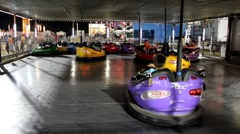 Bumper cars ride at fair Stock Footage