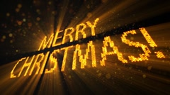 Greetings merry christmas of shining yellow elements 10s loop Stock Footage