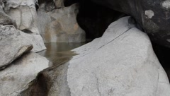 Water at Rattlesnake Canyon in Joshua Tree Stock Footage