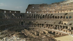 Inside Colosseum - stock footage
