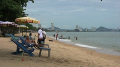 Pattaya Thailand Beach Scene Stock Footage