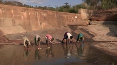 Kenya: Collecting Water for Irrigation Stock Footage