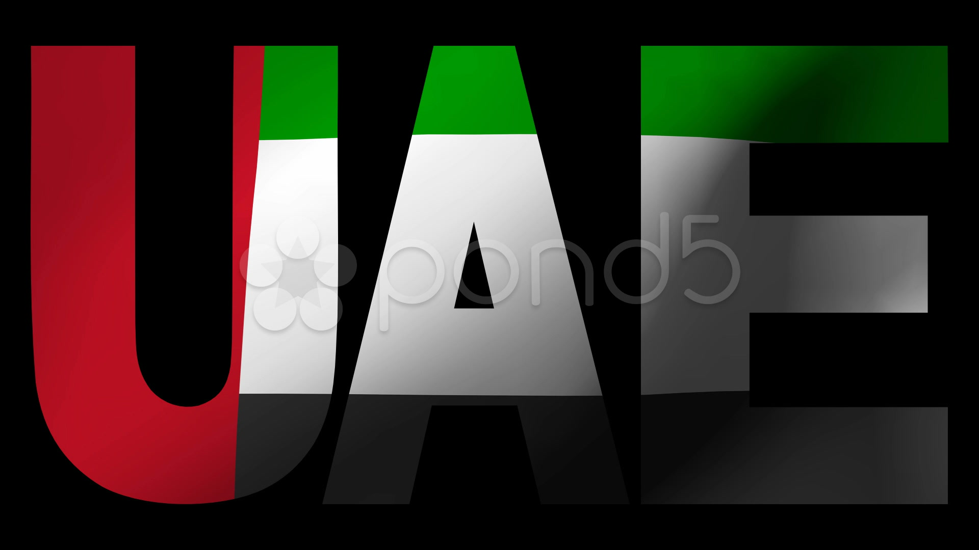 Video uae text with fluttering flag animation 8778289 for 3d wallpaper for home uae