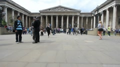 British Museum in London Stock Footage