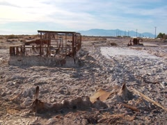 More rusted buildings at the Salton Sea Stock Footage
