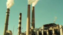 Industrial Smoke Stacks II Stock Footage