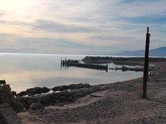 Light and shadows at the Salton Sea Stock Footage