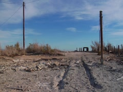 Tracks leading to the Salton Sea Stock Footage