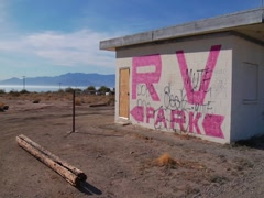 RV Park at the Salton Sea Stock Footage