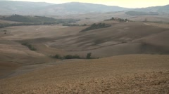 Valley at dusk pan Stock Footage