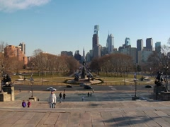 Rocky steps in Philadelphia Stock Footage