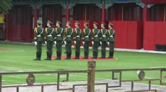 Chinese Soldiers Stock Footage
