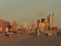 Factory skyline in Philadelphia - stock footage