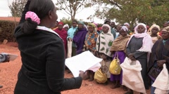 Kenya: Seed Distribution Day Stock Footage