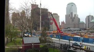 Stock Video Footage of Rebuilding at the World Trade Center Site.