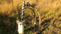 Landfill gas pressure relief valve - stock footage
