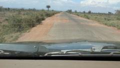 AFrican Road in Disrepair Stock Footage